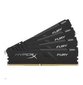 KINGSTON HyperX FURY 128GB DDR4 3466MHz / DIMM / CL17 / černá / Kit 4x 32GB
