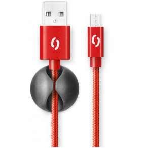 ALIGATOR PREMIUM 2A kabel, Micro USB 2m, červený