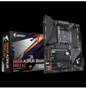 GIGABYTE MB Sc AM4 B550 AORUS PRO AC, AMD B550, 4 x DDR4, HDMI, Wi-Fi