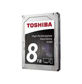 "Toshiba HDD Desktop X300 8TB, 3,5"", 7200rpm, 256MB, SATA 6GB/s"