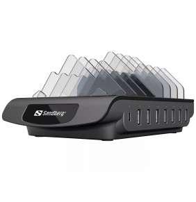 Sandberg nabíječka Multi USB Charging Station, 1x USB-C PD 30W,  7x USB-A, černá