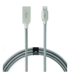 Aiino - Helmet cable USB to Lightning USB 1m - Silver