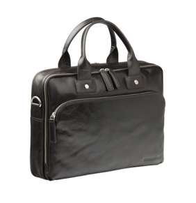 "dbramante1928 Leather business bag Kronborg to 14"" - Black"