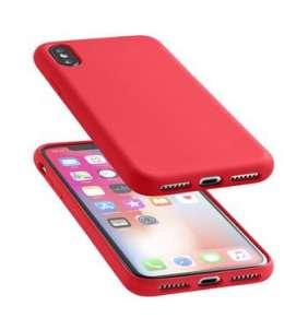 CellularLine SENSATION ochranný silikónový kryt pre Apple iPhone X/XS, červený