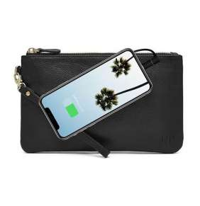 MightyPurse Wristlet With Built-In Charger - Matte Black