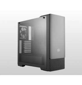 Cooler Master case MasterBox E500, ATX, Mid Tower, černá, bez zdroje