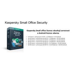 Kaspersky Small Office 15-19 licencí 1 rok Obnova