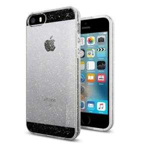 Spigen kryt Liquid Crystal Glitter pre iPhone SE/5s/5 - Crystal