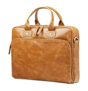 "dbramante1928 Leather business bag Kronborg to 16"" - tan"