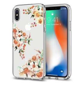 Spigen kryt Liquid Crystal Aquarelle pre iPhone X/XS - Primrose