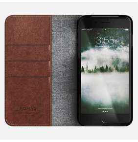 Nomad puzdro Leather Folio pre iPhone 7 Plus/8 Plus - Rustic Brown