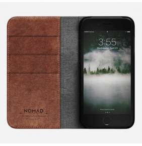 Nomad puzdro Leather Folio pre iPhone 7/8 - Rustic Brown