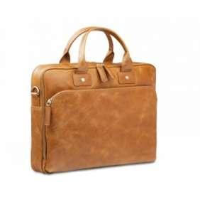 "dbramante1928 Leather business bag Kronborg to 14"" - zlato hnedá"