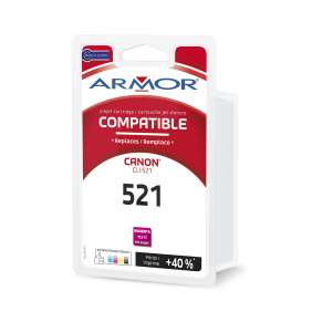 Armor ink-jet pro CANON Cli-521M, červená/magenta
