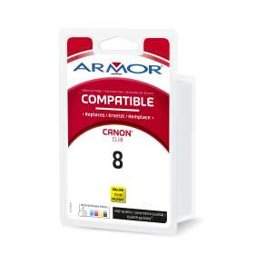 Armor ink-jet pro CANON Cli-8Y, žlutá/yellow