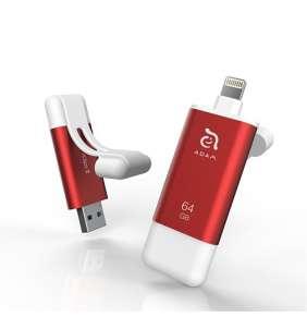 Adam Elements iFlashDrive 64GB iKlips II pre iPhone/iPad - Red