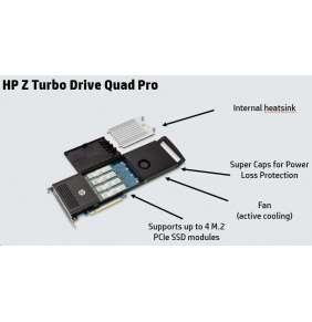 HP Z Turbo Drv Quad Pro 2x256GB PCIe SSD NVME (PCIe adapter with 2x256GB NVME SSD m.2, 2x m.2 free)