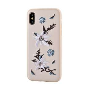 Devia kryt Flower Embroidery Case pre iPhone X/XS - Jalam