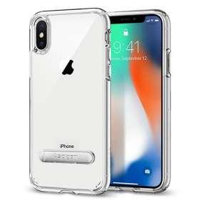 Spigen kryt Ultra Hybrid S pre iPhone X/XS - Crystal Clear