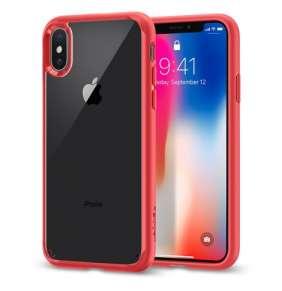 Spigen kryt Ultra Hybrid pre iPhone X/XS - Red
