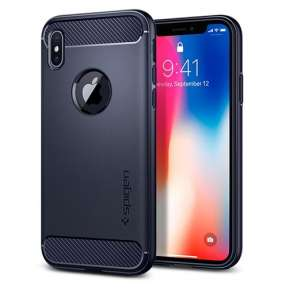Spigen kryt Rugged Armor pre iPhone X/XS - Midnight Blue