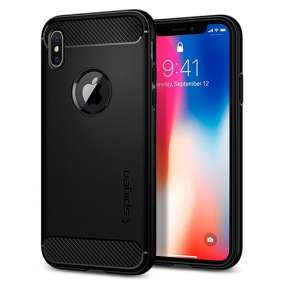 Spigen kryt Rugged Armor pre iPhone X/XS - Black