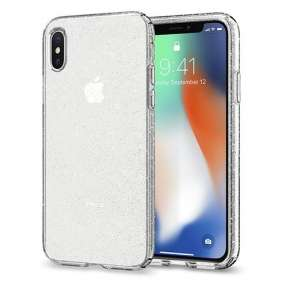 Spigen kryt Liquid Crystal Glitter pre iPhone X/XS - Crystal