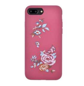 Devia kryt Flower Embroidery 2 pre iPhone 7 Plus/8 Plus - Deep Red