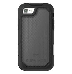 Griffin kryt Survivor Extreme pre iPhone 8 - Black/Translucent