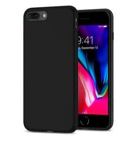 Spigen kryt Liquid Crystal pre iPhone 8 Plus - Matte Black