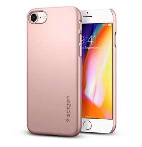 Spigen kryt Thin Fit pre iPhone 8 - Rose Gold