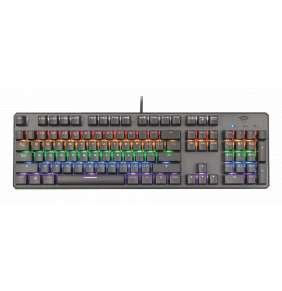 Trust GXT 865 Asta klávesnice / herní / drátová / mechanická / podsvícená / US layout / USB / černá