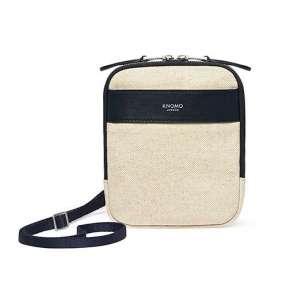 Knomo taška Rex Cross-Body - Natural/Silver Hardware