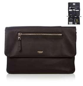 "Knomo taška Elektronista Cross-Body 10"" - Black Leather"