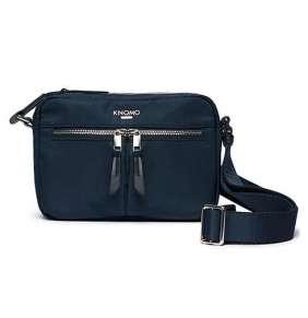 Knomo taška Avery Cross-Body - Navy Blue Blazer/Silver Hardware