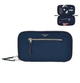 Knomo puzdro Knomad Travel Wallet - Dark Navy Blazer/Silver Hardware