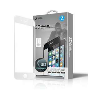 JCPAL Armor 3D Glass Screen Protector ( 0.26mm  White) for iPhone 7 Plus