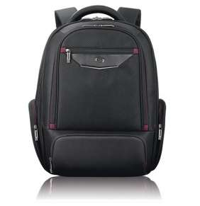 """Solo batoh Executive Backpack 17.3"""" - Black/Red"""