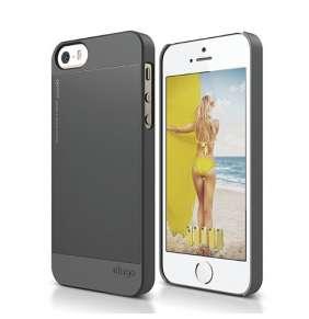 Elago kryt Outfit Matrix pre iPhone SE + fólia - Dark Grey