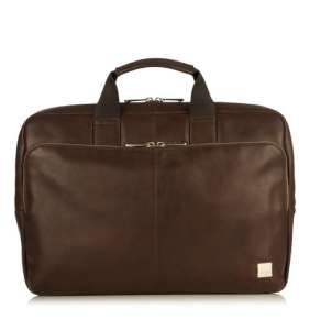 "Knomo taška NEWBURY Leather Zip pre 15"" Laptop - Brown"