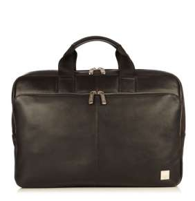 """Knomo taška Newbury Leather Zip pre 15"""" Laptop - Black"""
