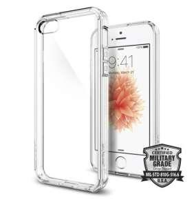Spigen kryt Ultra Hybrid pre iPhone SE/5s/5 - Crystal Clear