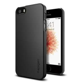 Spigen kryt Thin Fit pre iPhone SE - Black
