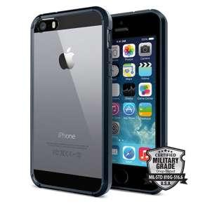 Spigen kryt Ultra Hybrid pre iPhone SE - Metal Slate