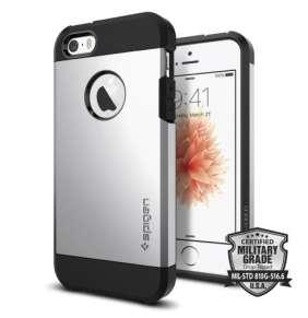 Spigen kryt Tough Armor pre iPhone SE - Satin Silver
