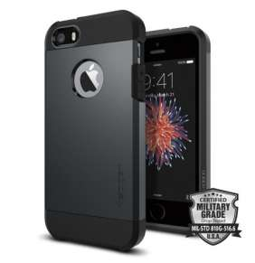 Spigen kryt Tough Armor pre iPhone SE - Metal Slate