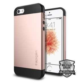 Spigen kryt Slim Armor S pre iPhone SE/5s/5 - Rose Gold