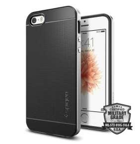 Spigen kryt Neo Hybrid pre iPhone SE - Satin Silver