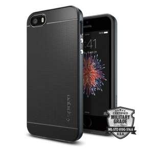 Spigen kryt Neo Hybrid pre iPhone SE - Metal Slate