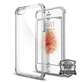 Spigen kryt Crystal Shell pre iPhone SE - Clear Crystal
